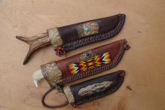 Ukázka indiánských nožů